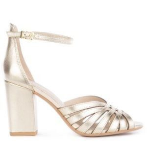 Seychelles Darkest Before Dawn Gold Metallic Pumps